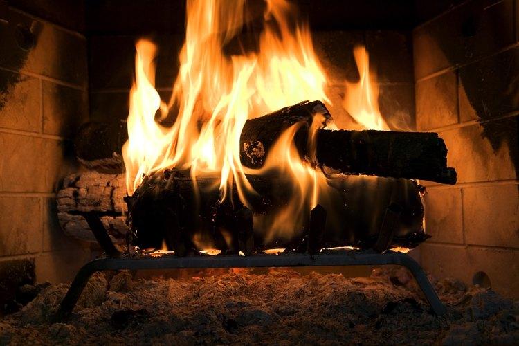 Una importante cantidad de calor se escapa a través del tubo de la chimenea.