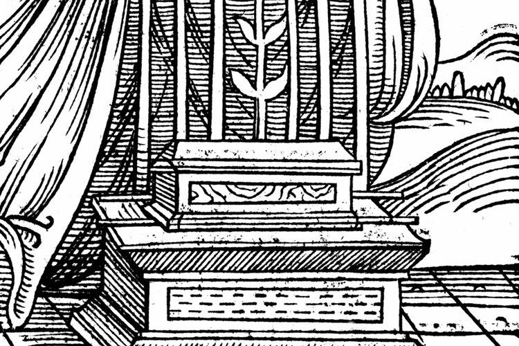 Una interpretación artística del Arca de la Alianza.