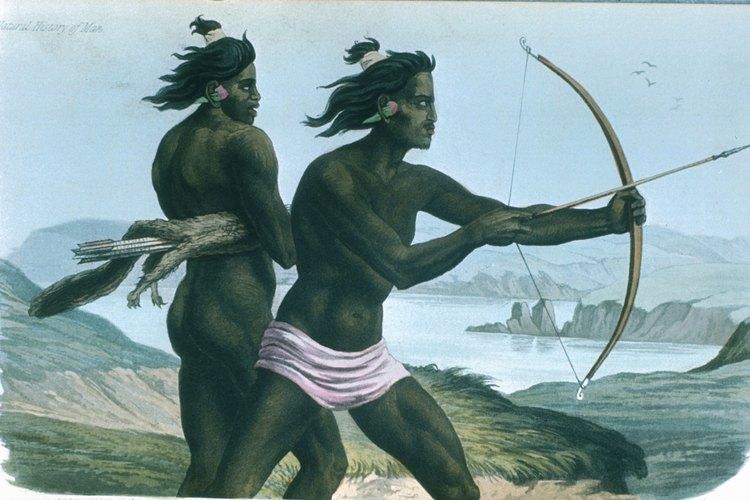 Los nativos de Estados Unidos usaban arcos y flechas para cazar y pelear.