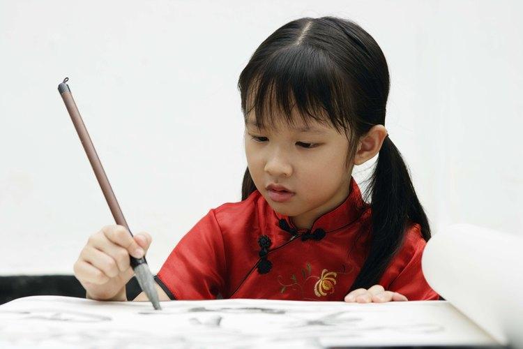 Las ropas tradicionales chinas tienen cuellos mandarín.