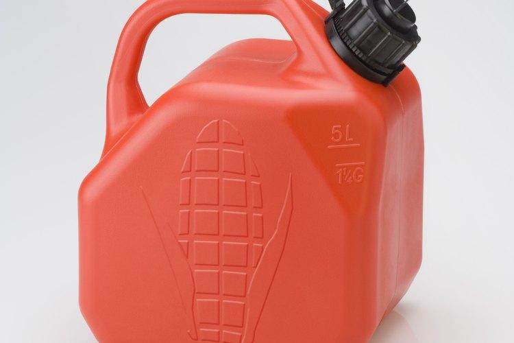 Bidón utilizado para transportar biocombustible.