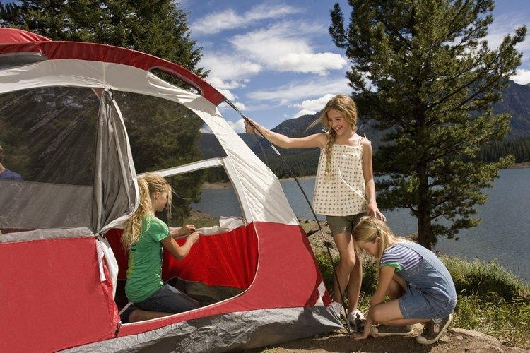 Campamentos en playas de Carolina del Norte.