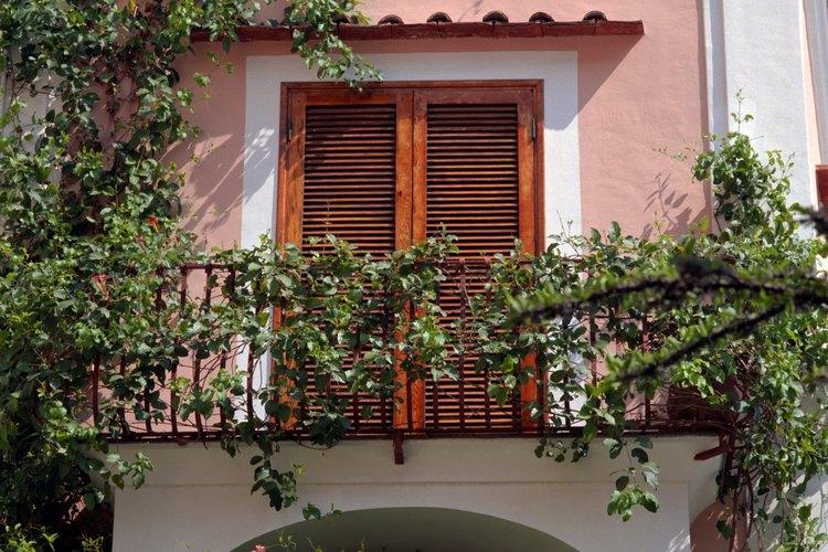 Los balcones son ideales para cultivar plantas colgantes.