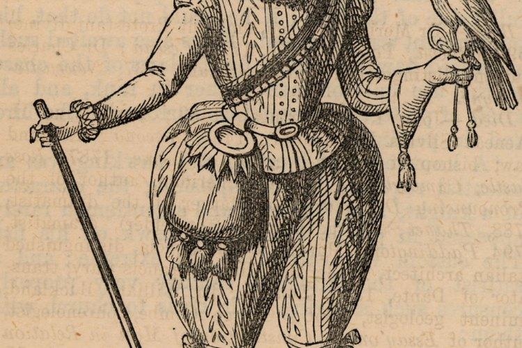 Un disfraz de cetrería antiguo.