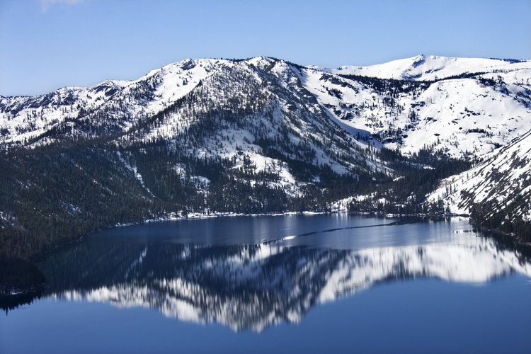 Lake Tahoe, en la Sierra Nevada, es espectadular para esquiar.