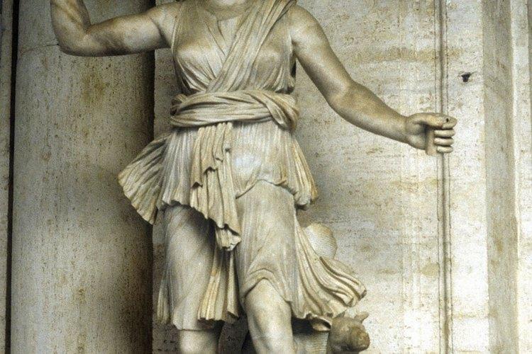 Representación en mármol de la diosa romana Diana.