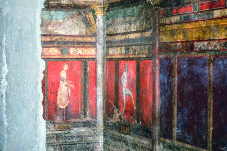 Los frescos en la Villa de los Misterios son algunas de las pocas pinturas que han sobrevivido de la Antigua Roma.