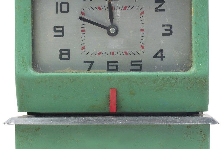 Los relojes registran el tiempo en minutos y segundos.