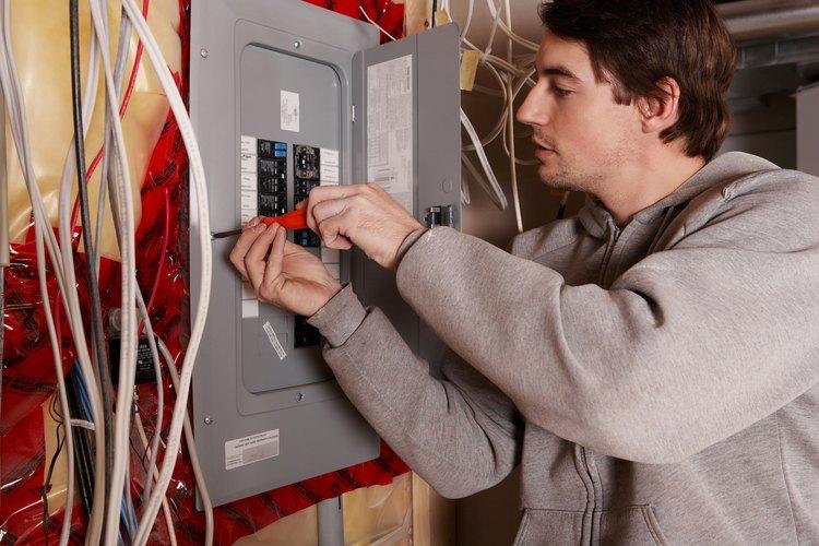 El tamaño del interruptor eléctrico está determinado por el calibre del cableado.