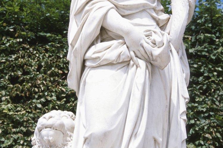 La escultura griega usualmente era de mármol.