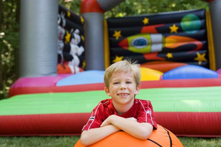 Los inflables son de los juegos más divertidos para niños.