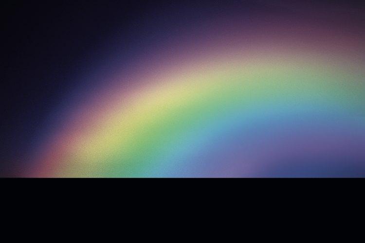 El arco iris muestra el espectro de colores de la luz blanca.
