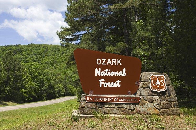 Las tierras del parque nacional cubren gran parte de las Ozarks.