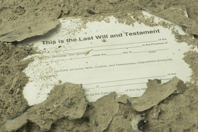 Encontrar la última voluntad y el testamento de alguien podría tomar algo de investigación.
