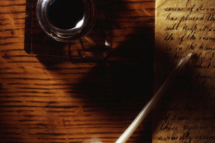 Las plumas de aves eran un implemento común de escritura medieval.