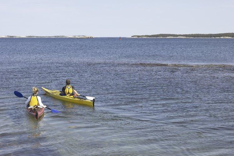Core Sound separa a Cape Lookout de tierra firme.