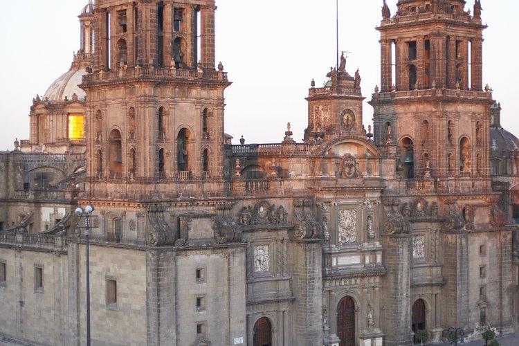 Catedral de la Ciudad de México en el Zócalo.