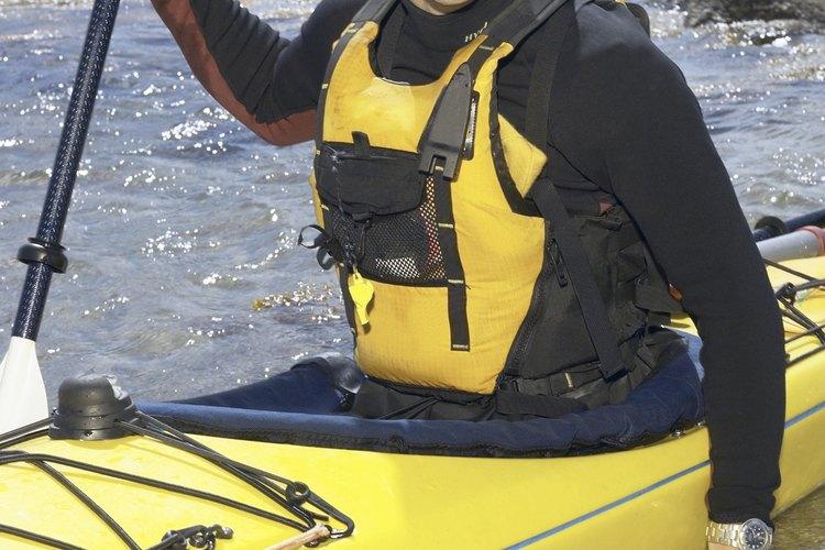 Los kayak con remo pueden ser operados en pulgadas de agua.