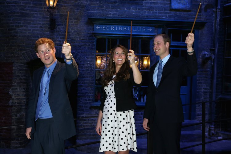Incluso el Príncipe Harry, el Príncipe William y la Princesa Kate están enamorados de los cuentos de fantasía de Harry Potter.