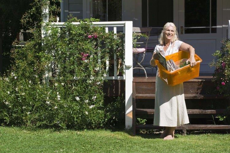 Los jardines pequeños pueden combinar plantas altas o vides con flores bajas para un impacto visual fuerte.