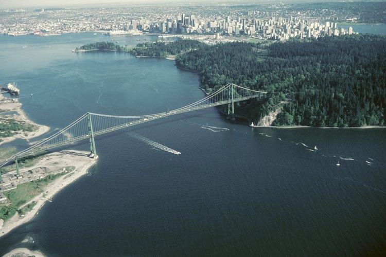 Vancuver, Columbia Británica, desde el aire.