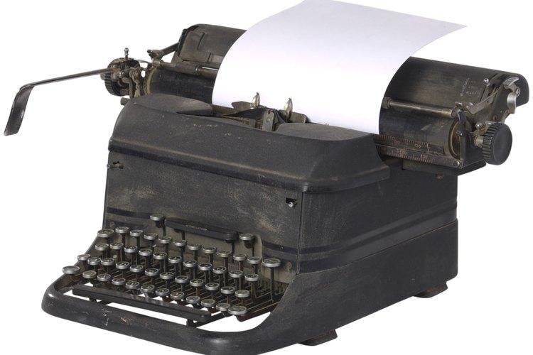Una máquina de escribir.