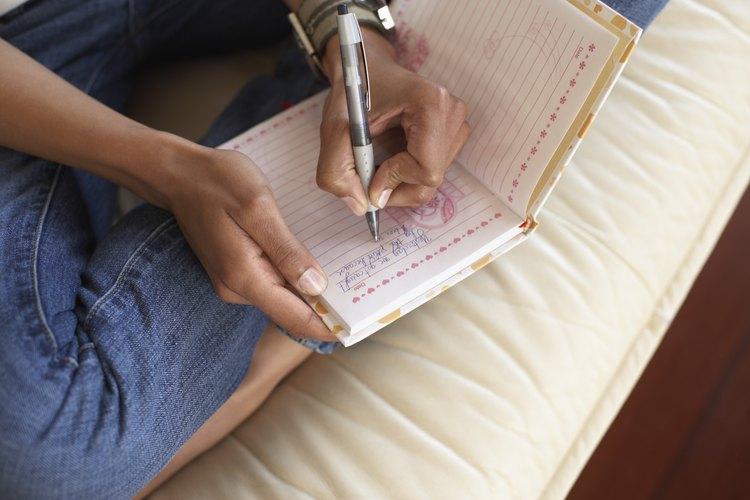 Escribiendo un discurso.