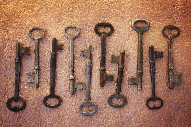 Las llaves antiguas pueden copiarse y usarse en cerraduras antiguas.