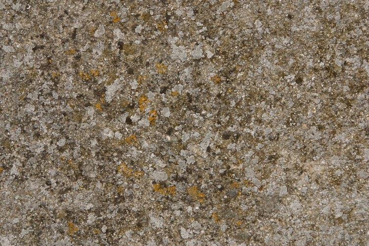 El aspecto del granito viene de una técnica de pintar cuidadosa.