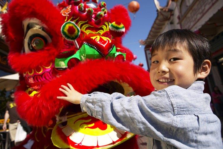 El dragón rojo es uno de los favoritos en los festivales tradicionales chinos.