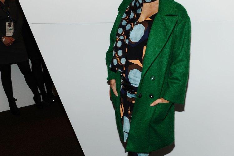 La estrella de rock Fergie lleva muy bien el verde en la Semana de la moda de Mercedes Benz en febrero de 2011.