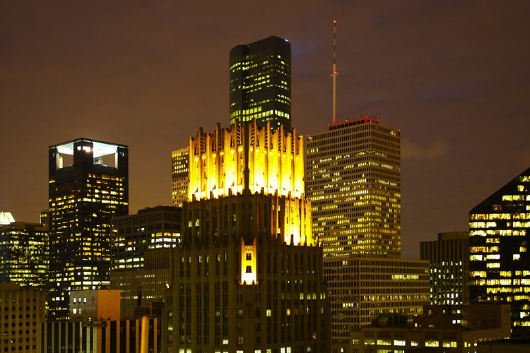 Vista nocturna de Houston.