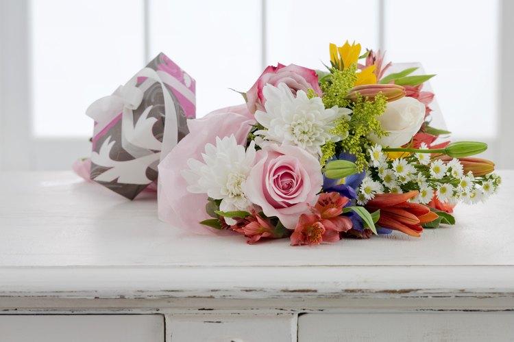 Escoge una variedad de tamaños y tipos de flores.