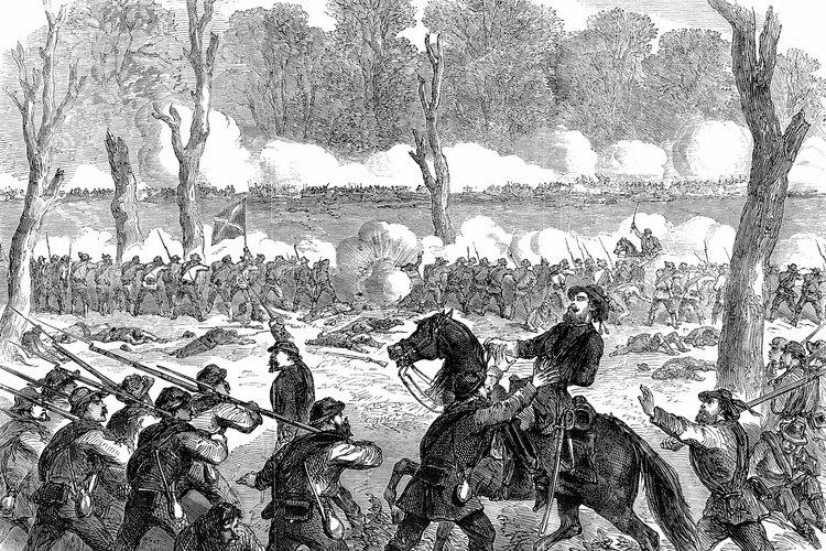 El general Bell herido en batalla durante la Guerra Civil.