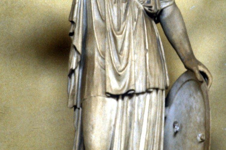La diosa Athena con su armadura.