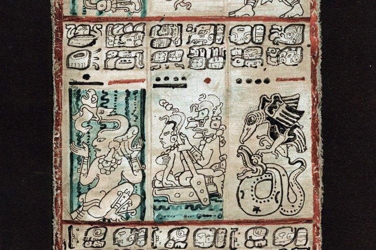 Uno de los famosos códices maya.