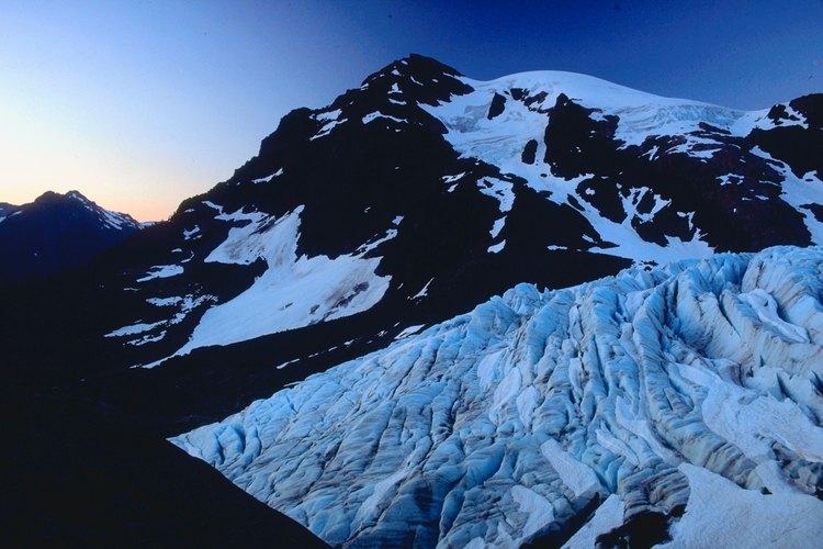 Vistas del Monte Olympus y de Blue Glacier, clímax del sendero Hoh River.