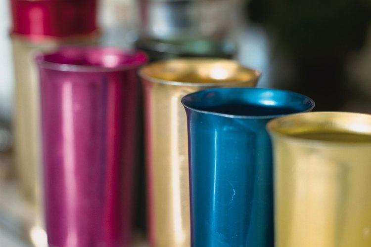 Los vasos de aluminio fueron populares durante los años 50 y 60.