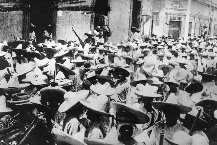 Imagen de tropas revolucionarias mexicanas.