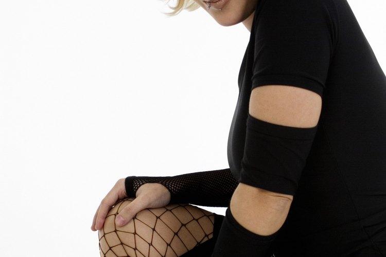 Las medias de red eran frecuentemente parte de un atuendo tipo Madonna.