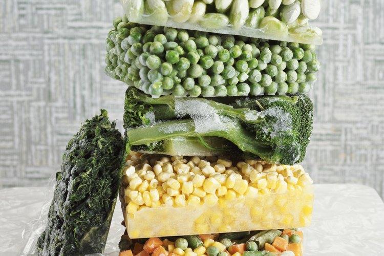 Las verduras congeladas mantienen muchos de sus nutrientes.