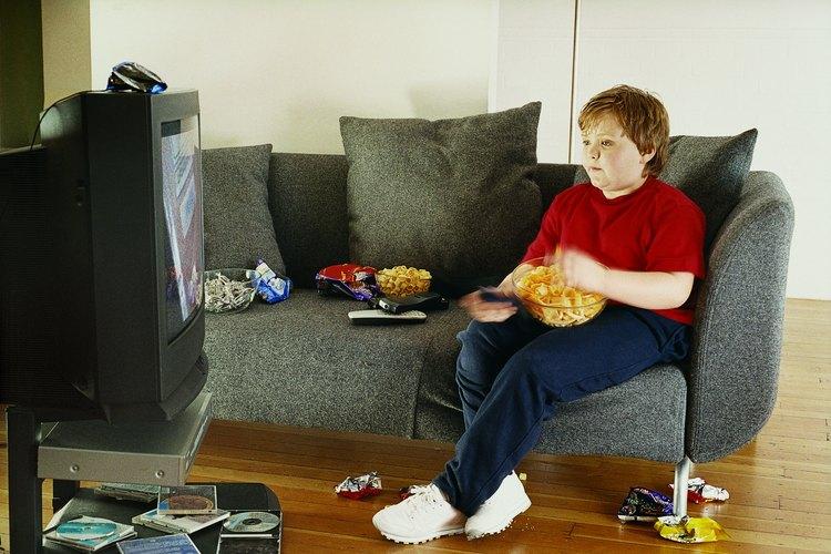 Demasiada television lleva a un aumento de peso nada saludable.