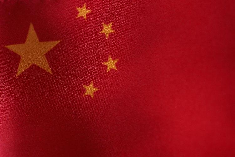 La bandera de China resultará sencilla de colorear para los niños.