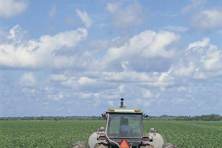Un campo arado.