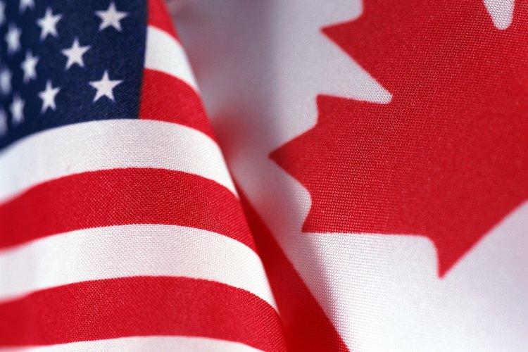 Banderas de Estados Unidos y Canadá.