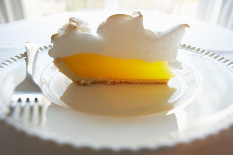 Tarta de limón y merengue.