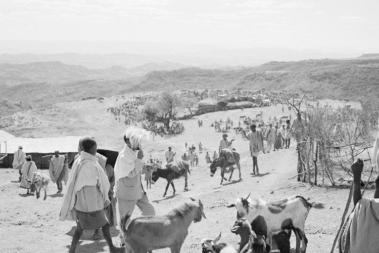 Un grupo nómade de granjeros.