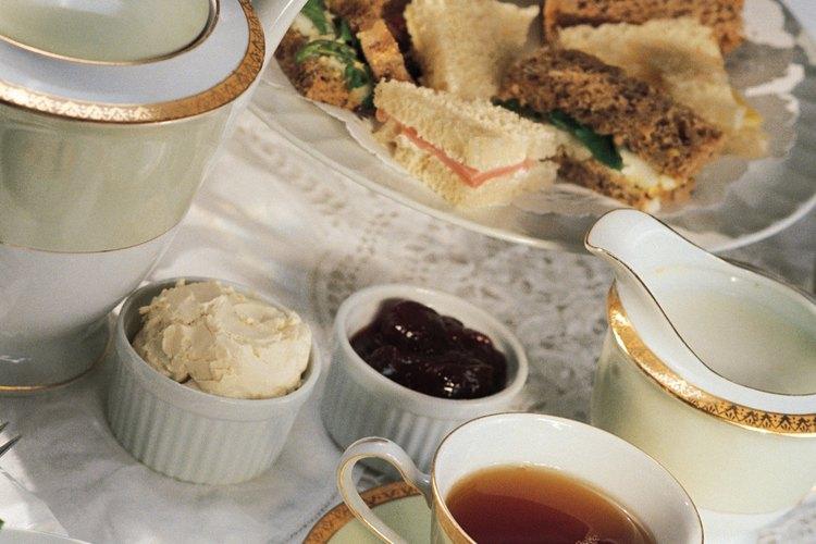 El té de la tarde formal Inglés (o té bajo) tiene una gran tradición.