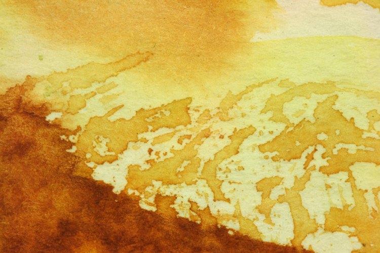 Combinar los colores de pintura puede dar un aspecto de óxido realista.