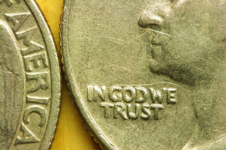 Acercamiento de una moneda de los Estados Unidos.